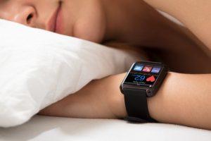 person sleeping smart watch